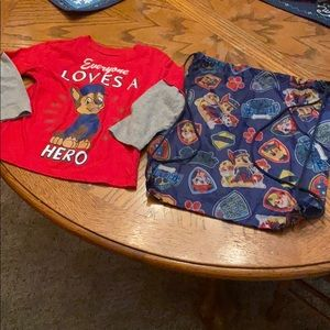 Other - Paw Patrol shirt & Drawstring Backpack